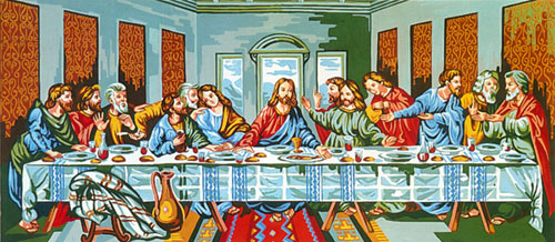 Last Supper (Leonardo da Vinci) - Collection d'Art Needlepoint Canvas