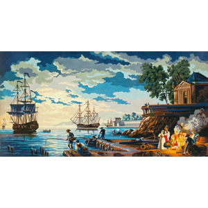 Tall Ships  - Collection d'Art Needlepoint Canvas