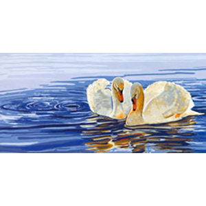 Two Swans - Collection d'Art Needlepoint Canvas