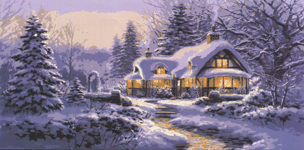 Winter Warmth - Collection d'Art Needlepoint Canvas