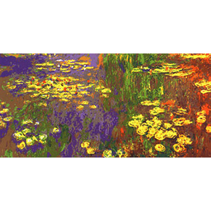 Lily Pond Impression - Collection d'Art Needlepoint Canvas