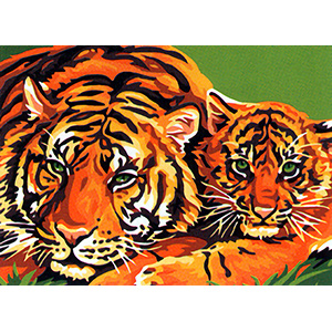 Royal Paris Les Tigres Canvas