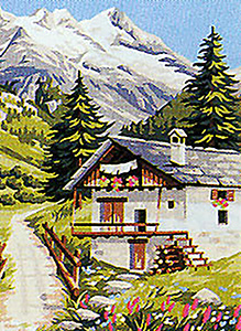 Royal Paris Needlepoint Chalet Canvas