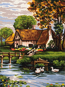 Royal Paris Needlepoint La Chaumiere (Thatched Cottage)