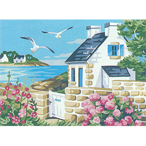 Royal Paris Needlepoint Brittany Cottage Canvas