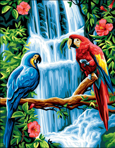 Royal Paris Needlepoint Macaws Canvas