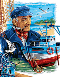 Royal Paris Needlepoint View of the Fisherman