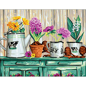 Royal Paris Needlepoint The Buffet Flowers