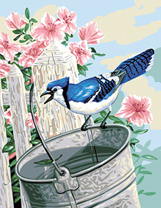 Royal Paris Needlepoint L'Oiseau Bleu (Blue Bird or Blue Jay)