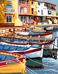 Royal Paris Needlepoint Port de Pesche (Fishing Port)
