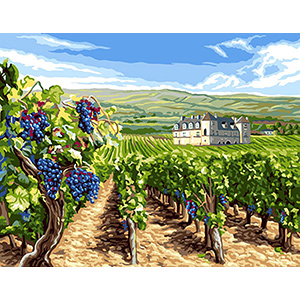 Royal Paris Needlepoint Le Vignoble (The Vineyard)