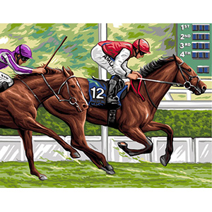 Royal Paris Needlepoint La Course (The Track)