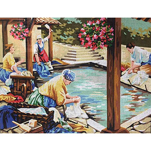 Royal Paris Needlepoint Les Lavandieres Canvas
