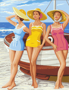 Royal Paris Needlepoint - Filles de Plage (Girls at the Beach)