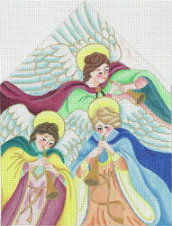 Creche - The Angels - Hand Painted Needlepoint Canvas from dede's Needleworks
