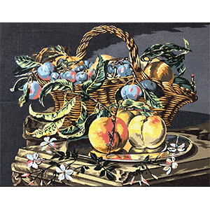 Margot Creations de Paris Needlepoint Panier de Fruits
