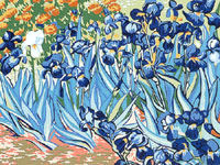 Margot Creations de Paris Needlepoint (Les Iris) Irises by Van Gogh Medium Needlepoint Canvas