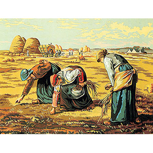 Margot Creations de Paris Needlepoint (Les Glaneuses) The Gleaners by Millet Medium Needlepoint Canvas