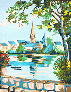 Margot Creations de Paris Needlepoint The Village