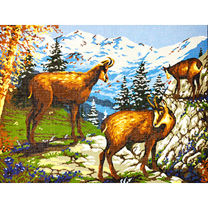 Margot Creations de Paris Needlepoint Les Chamois