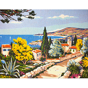 Margot Creations de Paris Needlepoint Paysage Provencal (Provence Landscape)