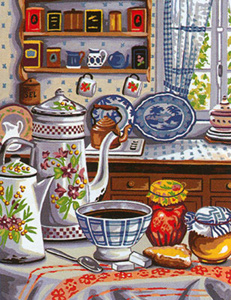Margot Creations de Paris Needlepoint - Medium Needlepoint Canvases - Cuisine d'Autrefols (Cuisine of Autrefols)