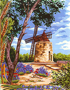 Margot Creations de Paris Needlepoint - Fontvielle Le Moulin d'Alphonse Daudet (Fontvielle, the Windmill by Alphonse Daudet)