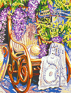 Margot Creations de Paris Needlepoint Le Rocking Chair