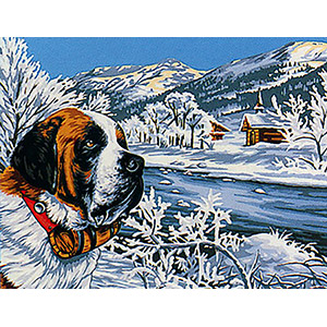 Margot Creations de Paris Needlepoint - Un Paisible Montagnard (Peaceful Mountain Dweller)