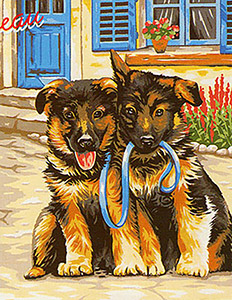 Margot Creations de Paris Needlepoint - Pret pour la Balade (Ready for a Walk)