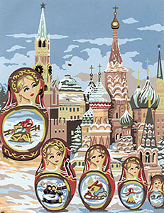 Margot Creations de Paris Needlepoint - Les Poupees Russes (The Russian Nesting Dolls)