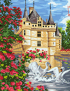 Margot Creations de Paris Needlepoint - Les Cygnes (The Swans)