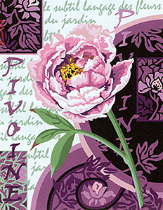 Margot Creations de Paris Needlepoint - Pivoine en Fleurs (Peony in Flower)