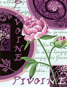 Margot Creations de Paris Needlepoint - Pivoine en Bouton (Peony in Bud)