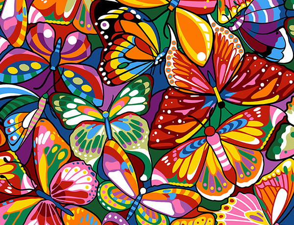 Margot Creations de Paris Needlepoint - Colorful Butterflies