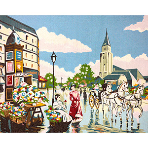 Margot Creations de Paris Needlepoint -  La Caleche (The Carriage)