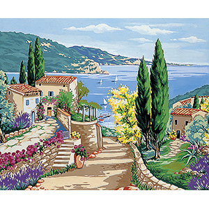 Margot Creations de Paris Needlepoint - Mediterranee (Mediterranean)