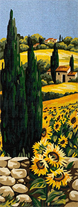 Royal Paris Needlepoint - Soleils du Midi (Sunflowers of the South)