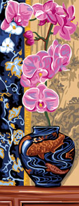 Royal Paris Needlepoint - Orchidee (Orchids)