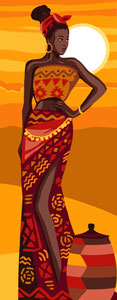 Royal Paris Needlepoint - African Beauty