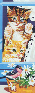 Royal Paris Needlepoint - Curious Kittens