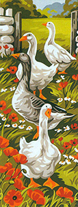 Royal Paris Needlepoint - Les Oies (The Geese) Canvas