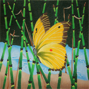 Giant Alfalfa Butterfly - Hand Painted Needlepoint Canvas from dede's Needleworks