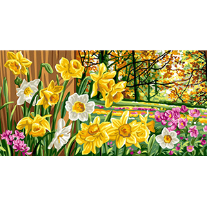 Royal Paris Needlepoint Les Jonquilles (Daffodils)