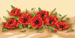 Royal Paris Needlepoint Poppies