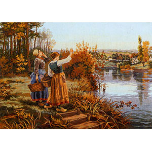 The Call (Hailing the Ferryman) - Collection d'Art Needlepoint Canvas