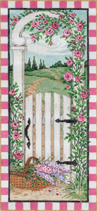 Gated Glen- Stitch Painted Needlepoint Canvas from Sandra Gilmore
