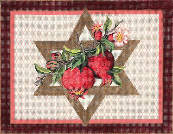 Seeds of Faith- Stitch Painted Needlepoint Canvas from Sandra Gilmore