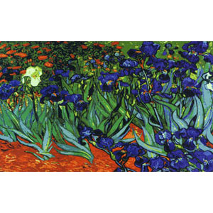 Irises, Van Gogh  - Collection d'Art Needlepoint Canvas