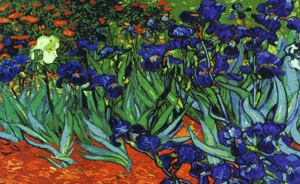 Needlepointus World Class Needlepoint Irises Van Gogh